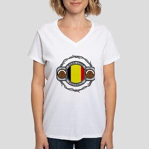 Belgium Football Women's V-Neck T-Shirt