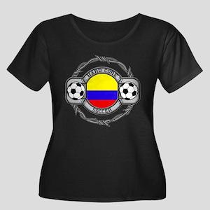 Colombia Soccer Women's Plus Size Scoop Neck Dark