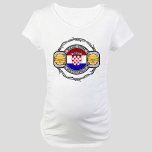 Croatia Water Polo Maternity T-Shirt