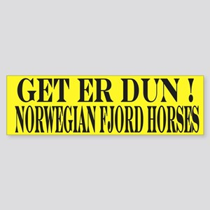 Get er Dun Yellow Fjord Horse Sticker