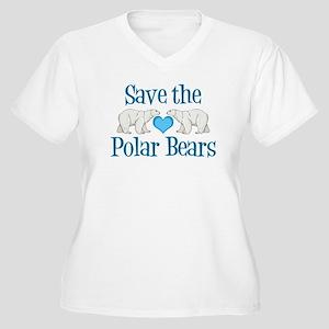 Save the Polar Be Women's Plus Size V-Neck T-Shirt