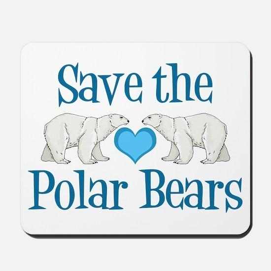 Save the Polar Bears Mousepad