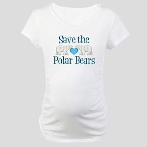Save the Polar Bears Maternity T-Shirt