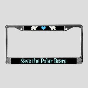Save the Polar Bears License Plate Frame