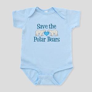 Save the Polar Bears Baby Light Bodysuit