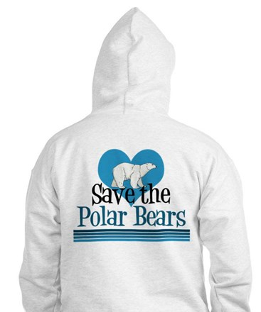 Save the Polar Bears Jumper Hoody