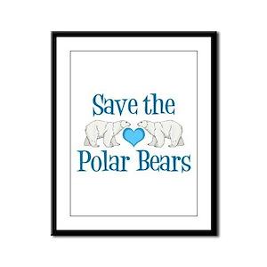 Save the Polar Bears Framed Panel Print