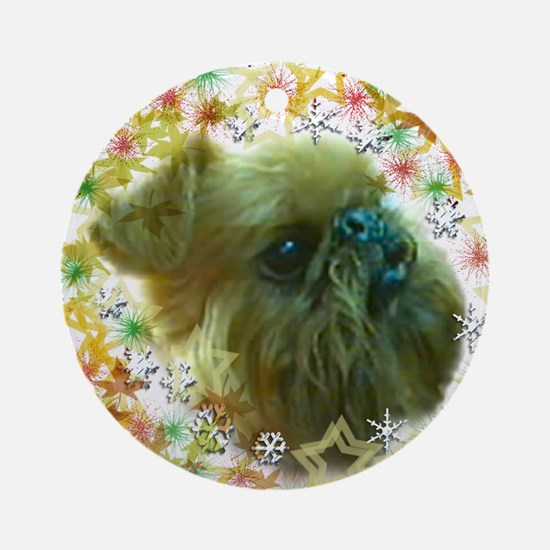 Brussels Griffon Ornament (Round)