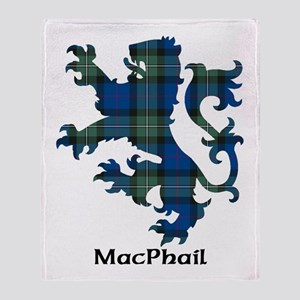 Lion-MacPhail hunting Throw Blanket