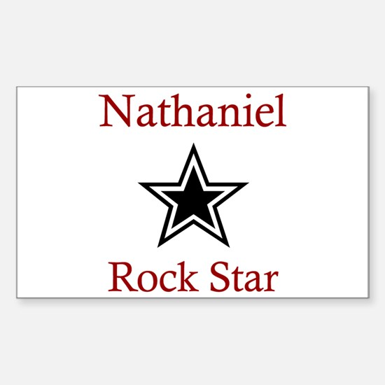 Nathaniel - Rock Star Rectangle Decal