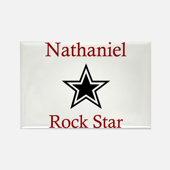 Nathaniel - Rock Star Rectangle Magnet