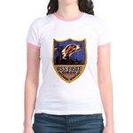 USS FISKE Jr. Ringer T-Shirt