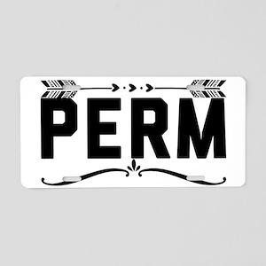 Perm Aluminum License Plate