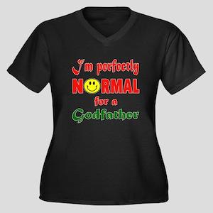 I'm perfectl Women's Plus Size V-Neck Dark T-Shirt