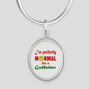 I'm perfectly normal for a Go Silver Oval Necklace
