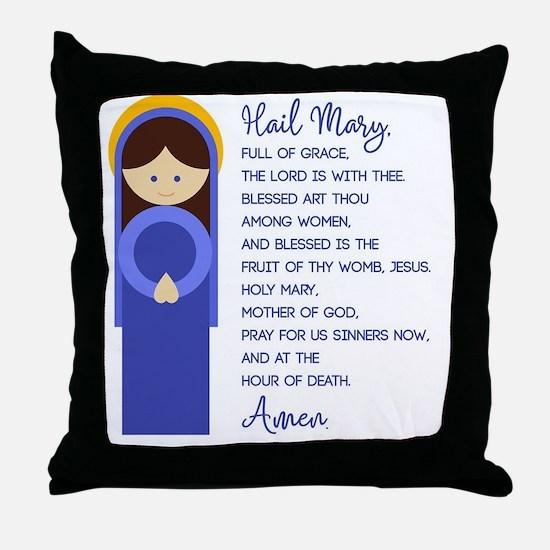 Funny The virgin mary Throw Pillow