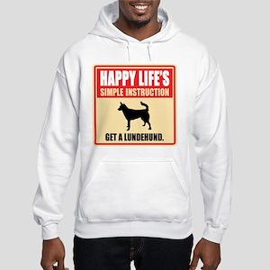 Norwegian Lundehund Hooded Sweatshirt