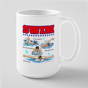 Swimming (M) Large Mug