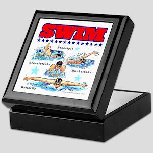 Swimming (M) Keepsake Box