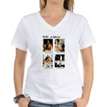 Freedom to Fight For (Front) Women's V-Neck T-Shir