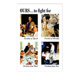 Freedom to Fight For Postcards (Package of 8)