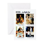 Freedom to Fight For Greeting Cards (Pk of 20)