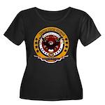 Dominica Women's Plus Size Scoop Neck Dark T-Shirt