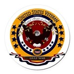 Gulf War Veteran Round Car Magnet