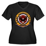 Gulf War Vet Women's Plus Size V-Neck Dark T-Shirt
