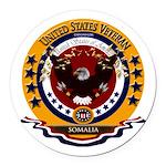 Somalia Veteran Round Car Magnet