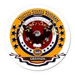 Grenada Veteran Round Car Magnet