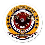 Iraq-Desert Storm Veteran Round Car Magnet