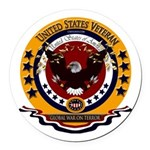 Global War on Terror Veteran Round Car Magnet