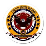Afghanistan Veteran Round Car Magnet