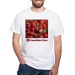 Strawberries White T-Shirt
