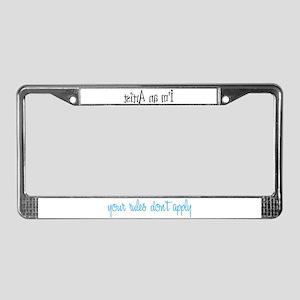 I'm an Artist License Plate Frame