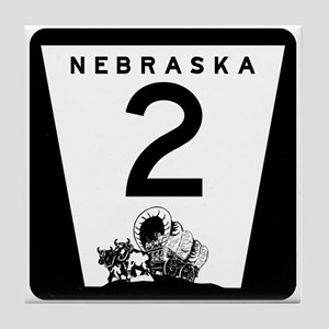 Highway 2, Nebraska Tile Coaster
