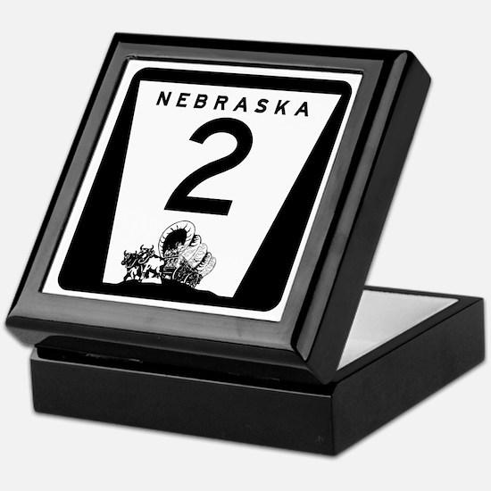 Highway 2, Nebraska Keepsake Box