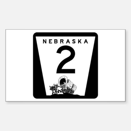 Highway 2, Nebraska Rectangle Decal