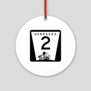 Highway 2, Nebraska Ornament (Round)