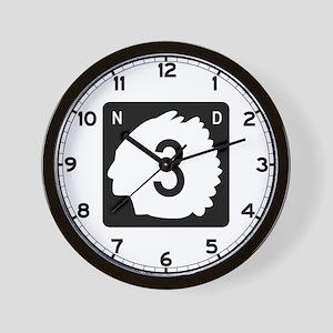 Highway 3, North Dakota Wall Clock