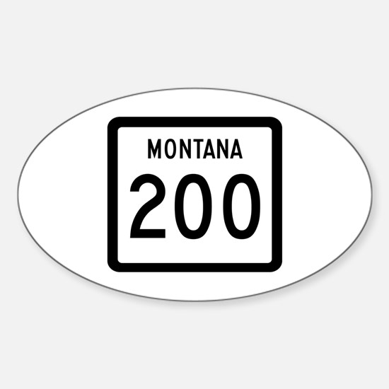 Highway 200, Montana Oval Decal