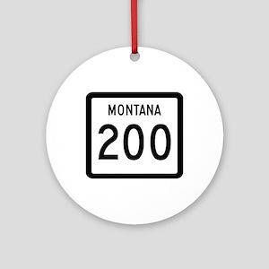 Highway 200, Montana Ornament (Round)