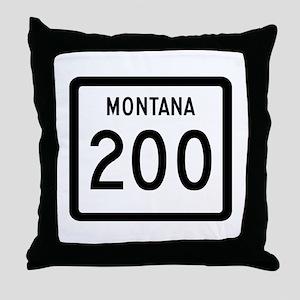 Highway 200, Montana Throw Pillow