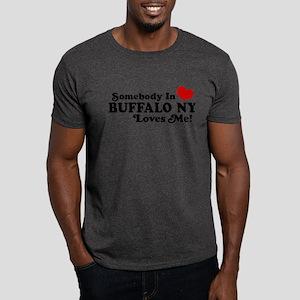 Somebody In Buffalo NY Loves Me Dark T-Shirt