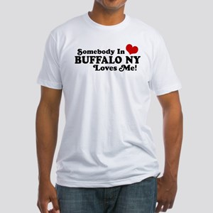 Somebody In Buffalo NY Loves Me Fitted T-Shirt