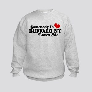 Somebody In Buffalo NY Loves Me Kids Sweatshirt