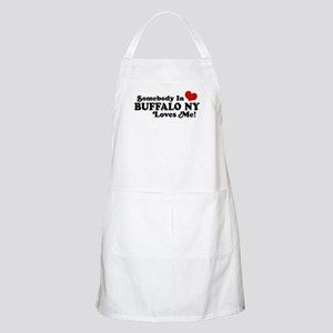 Somebody In Buffalo NY Loves Me BBQ Apron