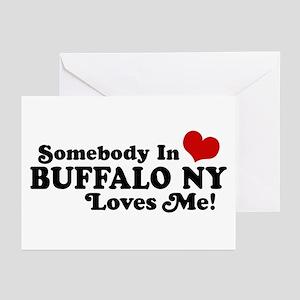 Somebody In Buffalo NY Loves Me Greeting Cards (Pk