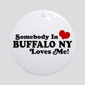 Somebody In Buffalo NY Loves Me Ornament (Round)